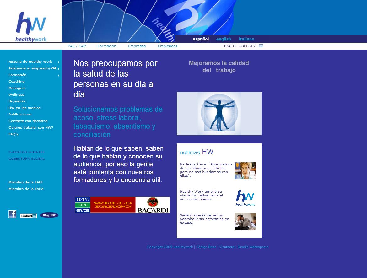 Diseño web Healthywork