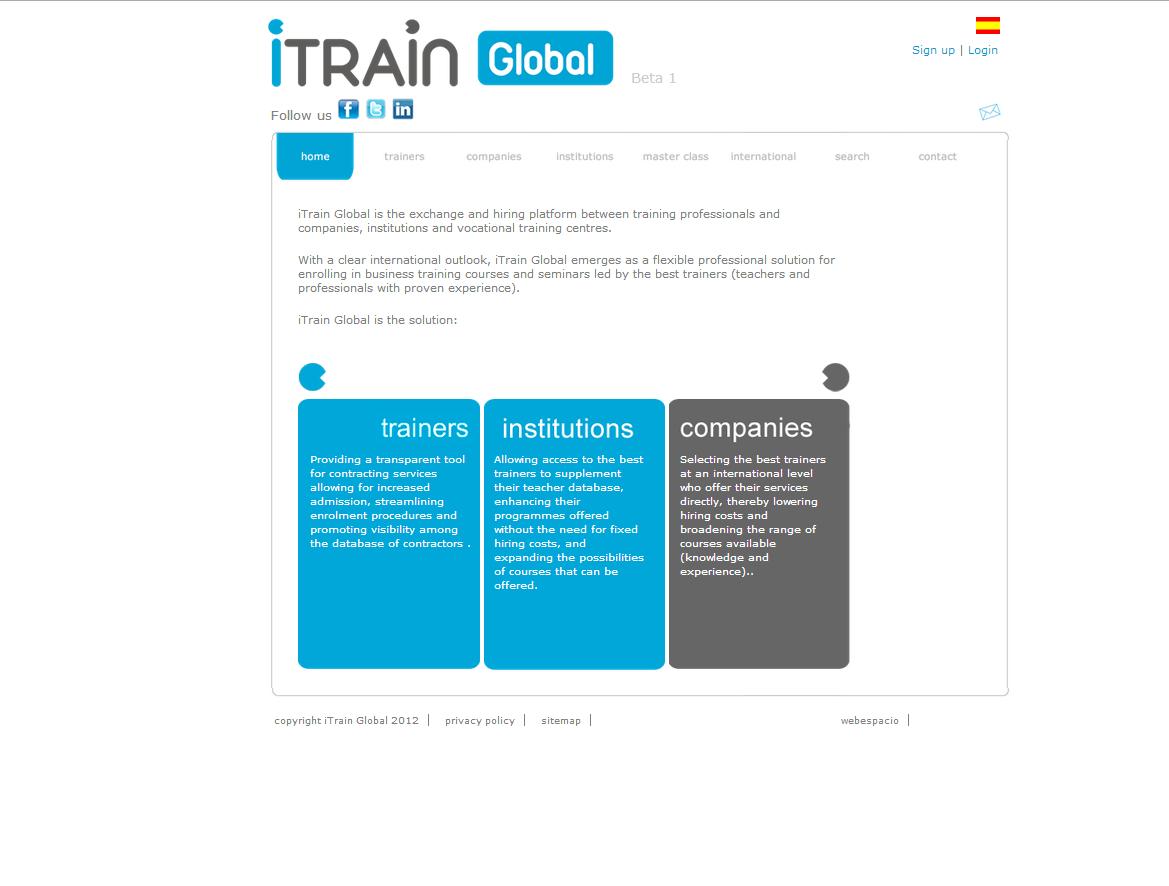 Diseño web iTrain Formacion